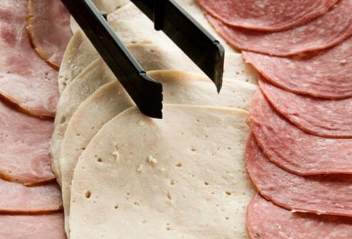 Photo of deli meats.