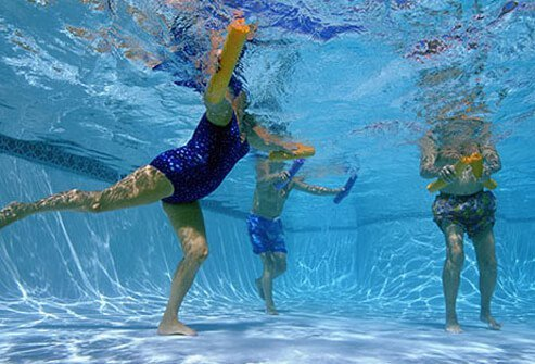 Working out in water is easy on your joints.