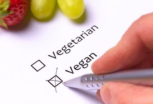 A person choosing a vegan diet.