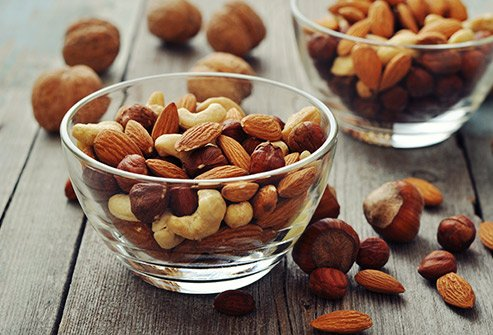 Nuts boost overall health, but mixed nuts also supply your body with vitamin K.