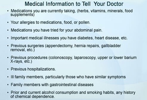 Medical information to tell your doctor.
