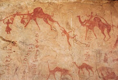 Photo of a cave painting.