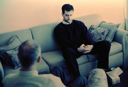 Photo of a man in a therapy session.
