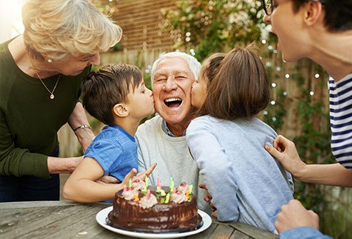 Older people report being happier than young people.