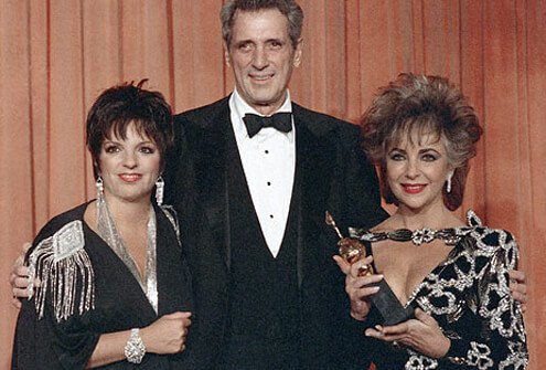 Rock Hudson, with Liza Minelli and Elizabeth Taylor, outspoken AIDS advocates.