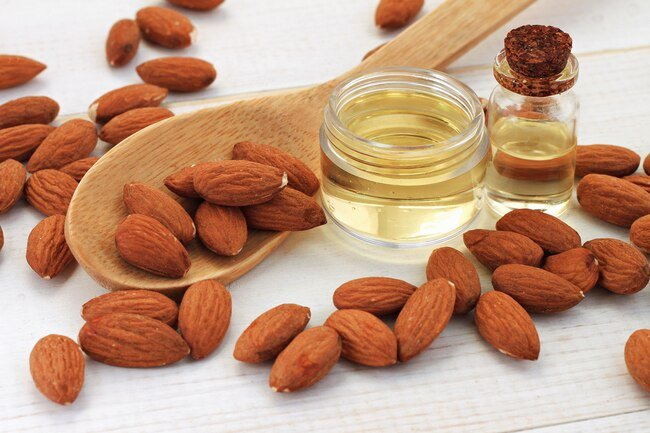 Almond oil is good for cooking at high heat and it has a pleasant nutty flavor.