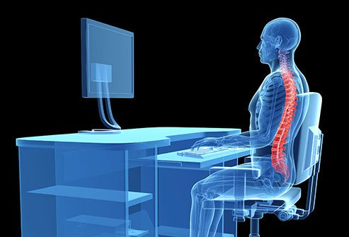 Maintain good posture to take care of your spine.