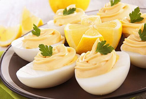 Photo of deviled eggs.