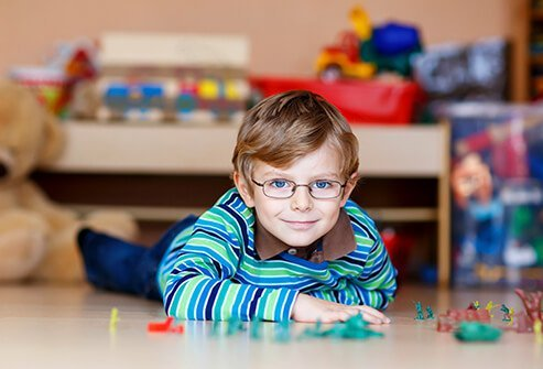 Make sure to get your child's vision checked to see if they need eye glasses.