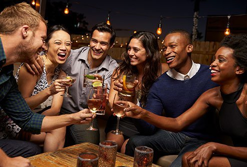 A night out drinking can leave you with stinky breath.