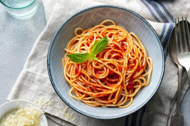 Studies in people eating low-glycemic diets (foods that take longer to raise your blood sugar) show that a moderate amount of pasta isn't harmful.