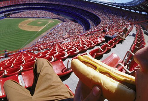 What's more all-American than cheering for your home team while noshing on a hot dog?