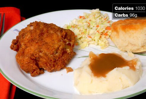 Photo of fried chicken.