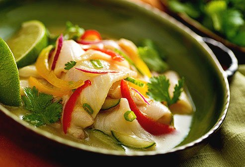 Made with raw fish, lime juice, and often potatoes and onions, this is a traditional dish from Latin America.