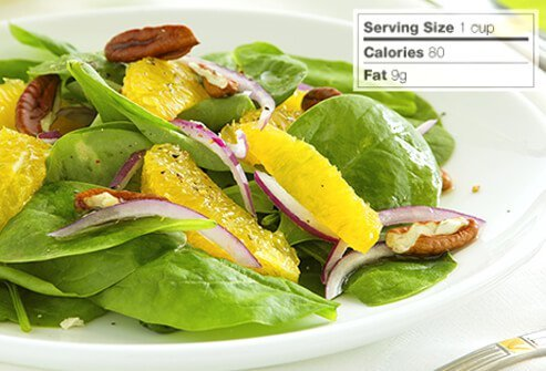 Photo of spinach salad.