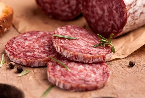 Processed meat like salami may increase the risk of cancer.