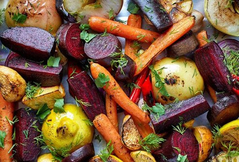 Roasted veggies may increase your longevity.