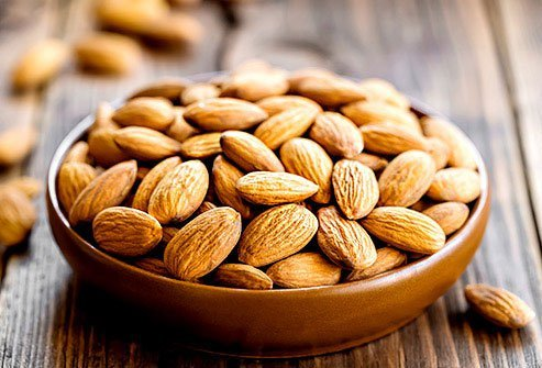People with acne often have low levels of antioxidants like vitamin E and selenium, which almonds, peanuts, and Brazil nuts have a lot of.