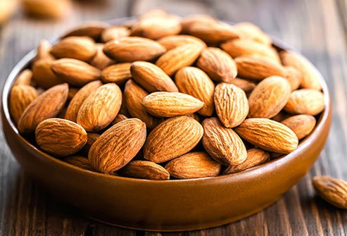 Nuts are good sources of vitamin E, a nutrient that research suggests may help protect against fatty liver disease.