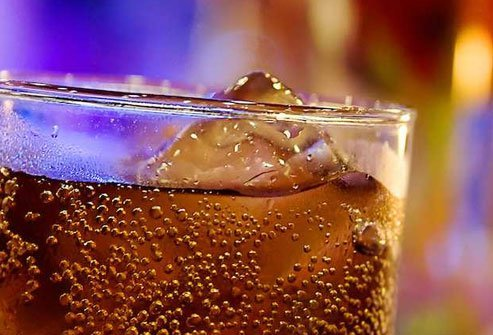 Caffeinated, carbonated soda may keep you up at night and give you bloating and heartburn.