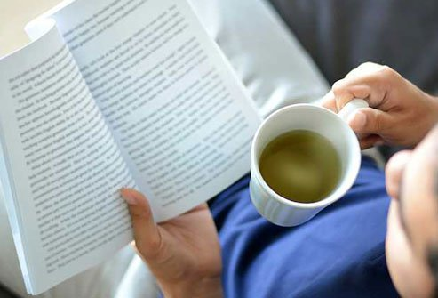 Herbal tea can help you wind down before bedtime.