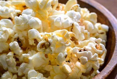 Popcorn satisfies cravings for a salty, crunchy snack while providing healthy fiber.