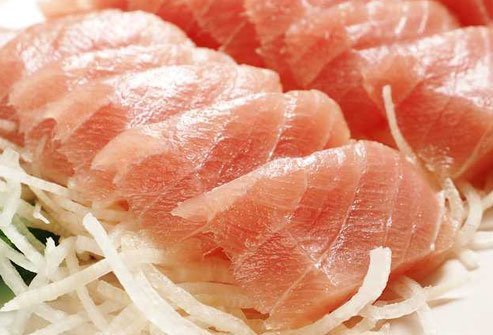 The firm, meaty flesh of swordfish is considered a delicacy with sushi.