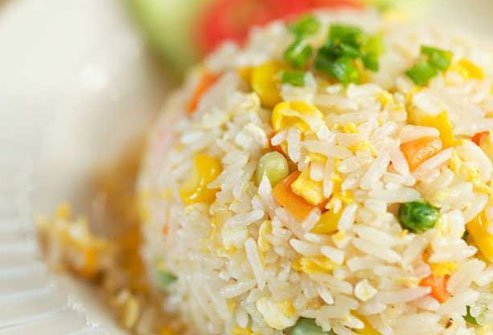 Skip Thai fried rice in favor of healthier steamed brown rice instead.