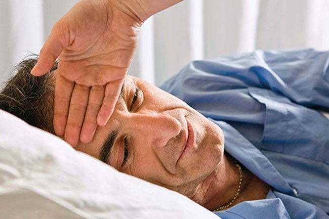 Fever and fatigue are signs of the blood cancer, leukemia.