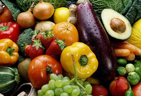 Colorful foods.