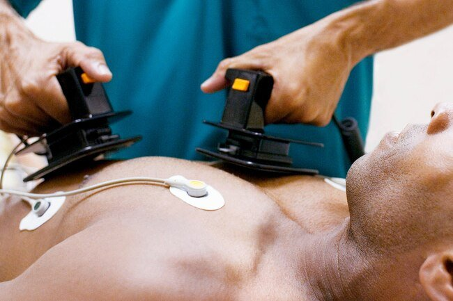 If you have cardiac arrest, you need immediate treatment with a defibrillator, a machine that sends an electric shock to the heart.