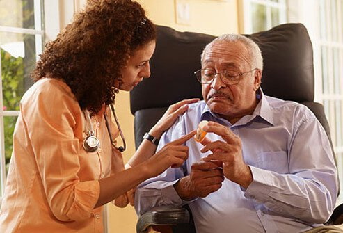 Insurance may pay for a home health aide.