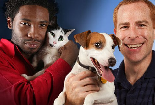 Photo of cat and dog people.