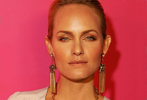 Amber Valletta abused drugs and alcohol as a child.