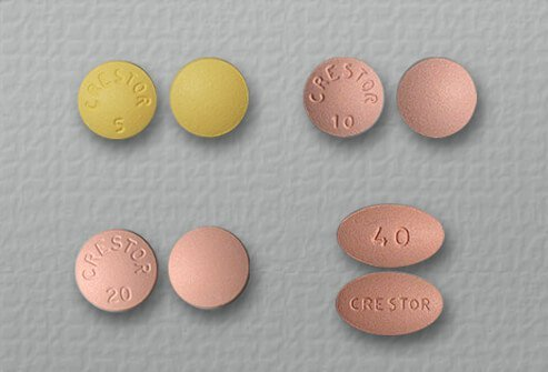 rosuvastatin (Crestor) tablets of 5, 10, 20 and 40 mg.