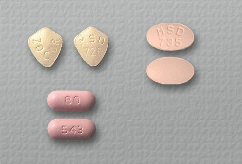 simvastatin (Zocor) tablets of 5, 10 and 80 mg.