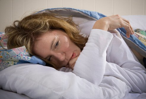 A woman suffers from chronic fatigue syndrome (CFS).