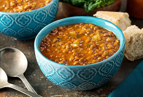 Bean soup is an easy way to get more protein and fiber into your diet.