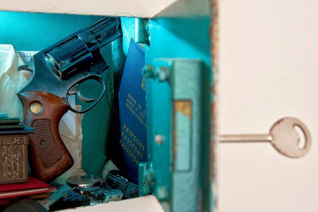 Make sure all guns and weapons are stored securely in your house to avoid accidents.