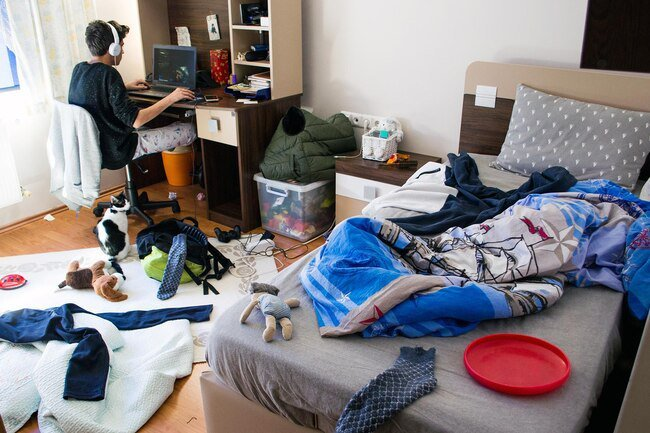 Cords, rugs, toys, and other clutter can create tripping hazards in your house.