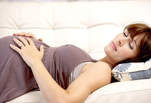 The rib cage expands during pregnancy, especially in the last trimester.