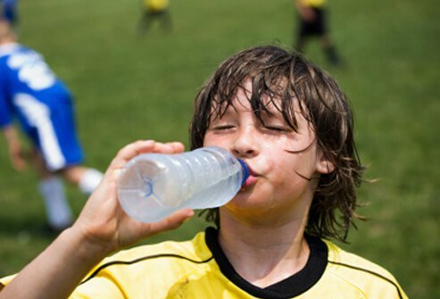 Your body can lose significant amounts of water when it tries to cool itself by sweating.