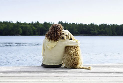 Sometimes your pet really can be your best friend, and that's good therapy.