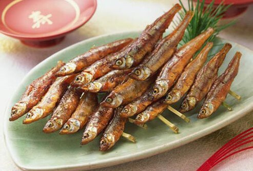 Photo of dried smelt.