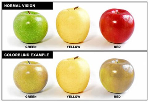 Being colorblind means, you do not see colors normally.