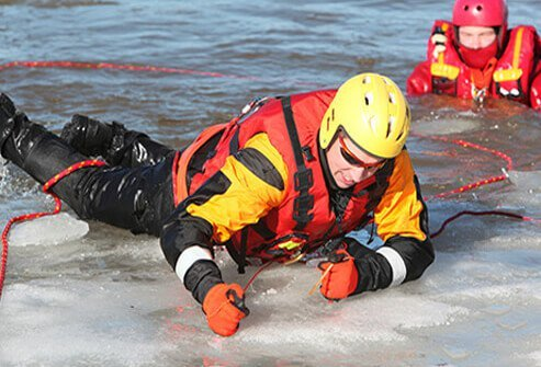 Red Cross emergency preparedness teaches how to recognize the signs of hypothermia and how to address it.