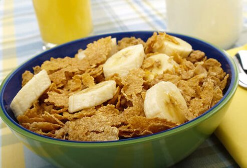 Bowl of fiber cereal.