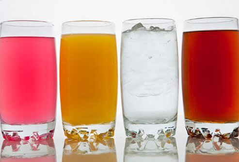 Assortment of healthy drinks.
