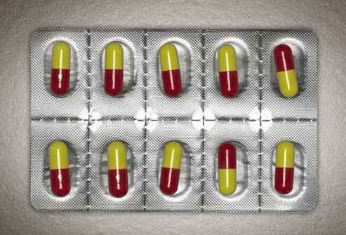 Photo of alpha blocker pills in a blister pack.