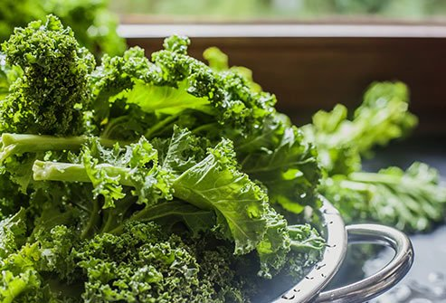 Dark, leafy greens protect against age-related eye disease.